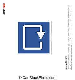 kék, háló, fénykép keret, -, felfrissít, ikon