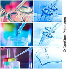 kék, háttér., teszt, closeup, csövek
