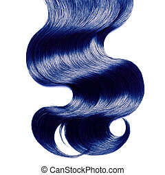 kék, haj, felett, fehér, göndör