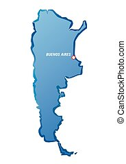kék, határok, vektor, illustration., argentina.