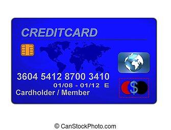 kék, hitelkártya