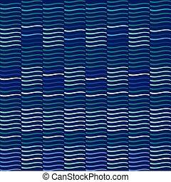 kék, ismétel, motívum, lenget, háttér., vector.