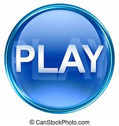 kék, játék, ikon