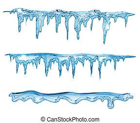 kék, jégcsap