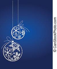 kék, karácsony, háttér