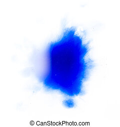 kék, kelés, fehér, folt, háttér