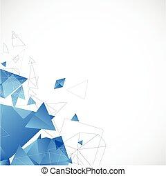 kék, kivonat tervezés, futuristic, háttér