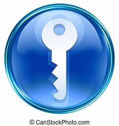 kék, kulcs icon