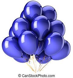 kék, léggömb, buli dekoráció