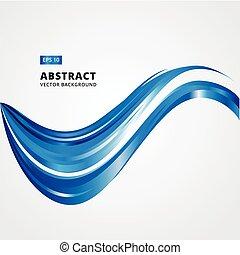 kék, leaftlet, hirdetés, megvonalaz, elvont, magazin, ábra, háttér., vektor, brosúra, görbe, nyomtat, waves.