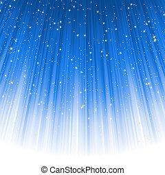kék, light., eps, ereszkedő, csillaggal díszít, út, 8