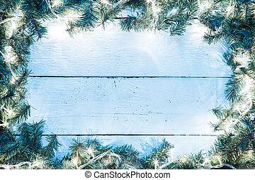 kék, lightbulb, elágazik, fából való, fény, háttér, csinos,...