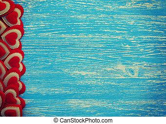 kék, mód, fából való, szüret, háttér., fénykép, piros, piros