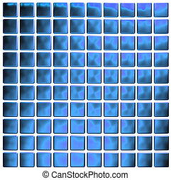 kék, mózesi, (3d, render)