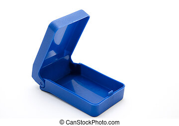 kék, műanyag, adag