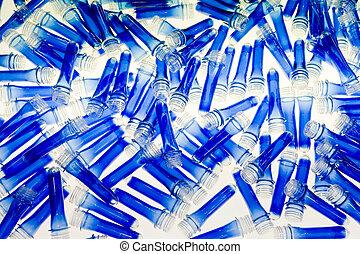 kék, műanyag, csövek