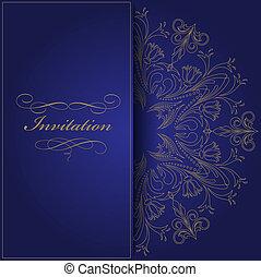 kék, meghívás