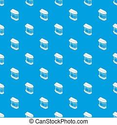 kék, motívum, ablak, seamless, erkély