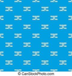 kék, motívum, ablak, seamless