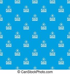 kék, motívum, ablak, seamless, műanyag