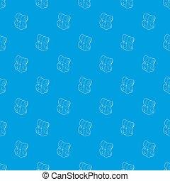 kék, motívum, hátizsák, seamless