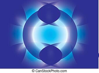 kék, motívum, háttér, lenget