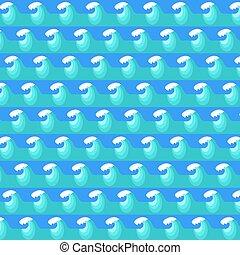 kék, motívum, lenget, víz, háttér., tenger
