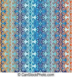 kék, motívum, mód, seamless, iszlám