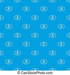 kék, motívum, seamless, műanyag, nyomtatás, 3