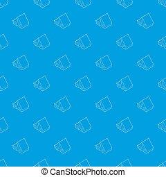 kék, motívum, seamless, sátor