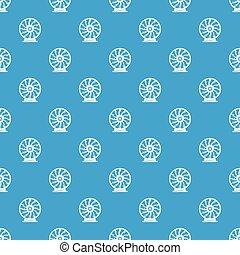 kék, mozgatható, motívum, seamless, perpetuum, vektor