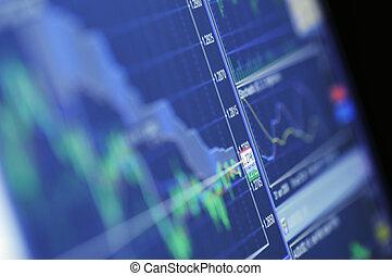 kék, növekedés kiváltságlevél, részvény