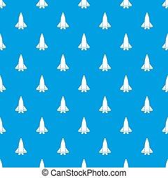 kék, nagy, repülőgép, seamless, motívum