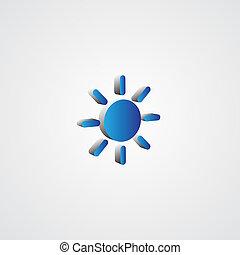 kék, nap, ábra, 3