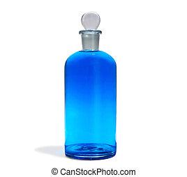 kék, palack, a05