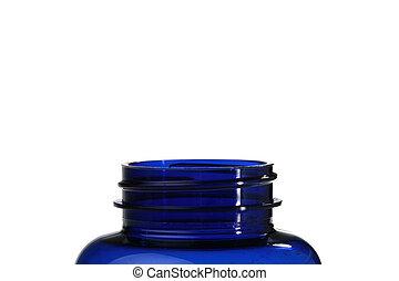 kék, palack, műanyag