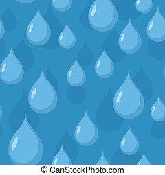 kék, pattern., seamless, eső víz, drops., vektor, háttér