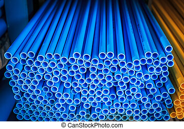kék, pipa, műanyag