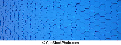 kék, poligon, render, elvont, -, háttér, 3