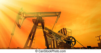 kék, pumpa, olaj, hangsúly