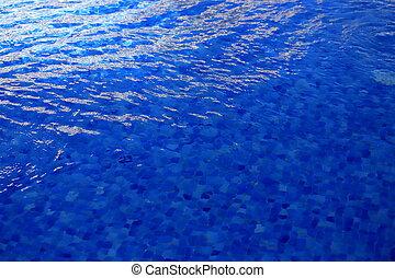 kék, ragyogás, pocsolya, lenget, fény, víz, háttér