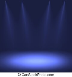 kék, reflektorfény