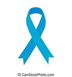 kék, ribbon., prosztatarák