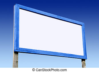 kék, sky., nagy, bizottság, tiszta, fehér, hirdetés