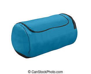 kék, sport, bag., elszigetelt, white.