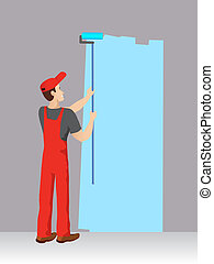 kék, szín, szobafestő