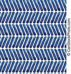 kék, szarufa, pattern., vízfestmény, háttér, haditengerészet