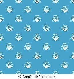 kék, szerves, tanya, motívum, seamless, vektor