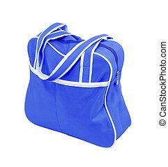kék, táska, cipzár, szerkezet