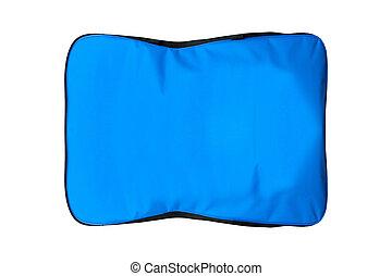 kék, táska, fehér, elszigetelt